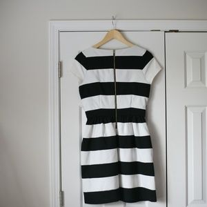 Elle Dresses - Elle short sleeve striped bell dress